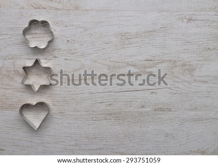 Cooky cutters background - stock photo