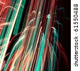 Cool abstract glowing lines - stock photo