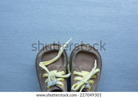 cool baby shoes - stock photo