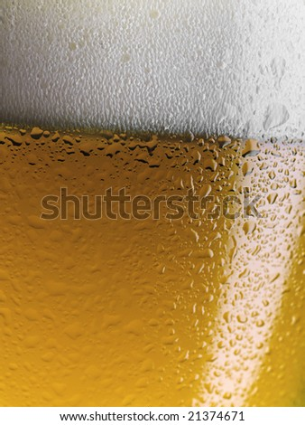 Cool beer in glass - stock photo