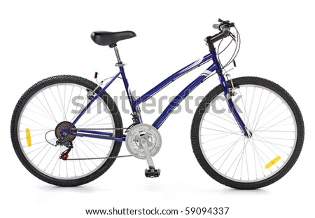 Cool Bicycle over white  background - stock photo