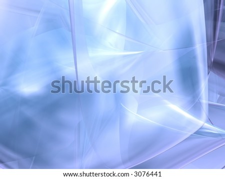Cool Blue Abstract - stock photo