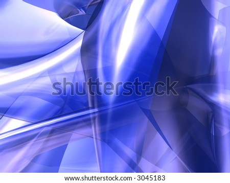 Cool blue Background - stock photo