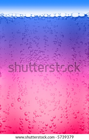 cool bubbles - lots of bubbles illuminate from beneath - stock photo