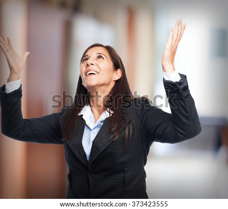 cool business-woman surprised