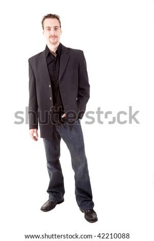 cool businessman - stock photo
