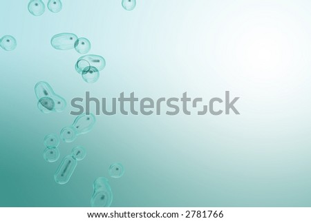 cool calm underwater bubbles rising into the sunlight - stock photo
