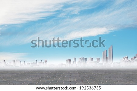 cool city background - stock photo