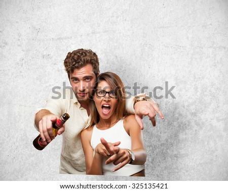 cool couple - stock photo
