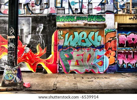 Cool graffiti shot - stock photo