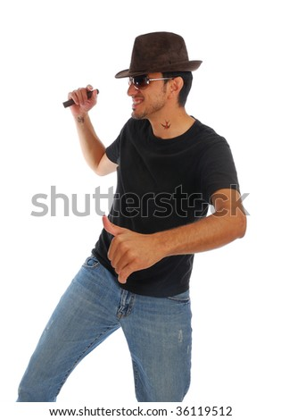Cool guy - stock photo