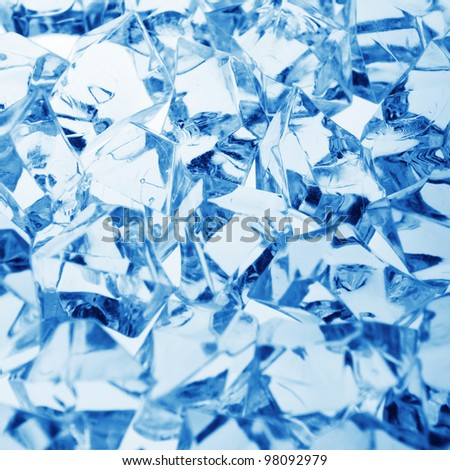 cool ice background - stock photo