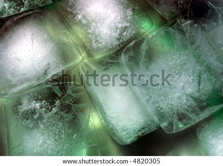 Cool ice blocks - stock photo
