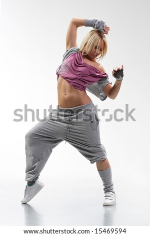 stylish and cool hip hop style attractive young woman