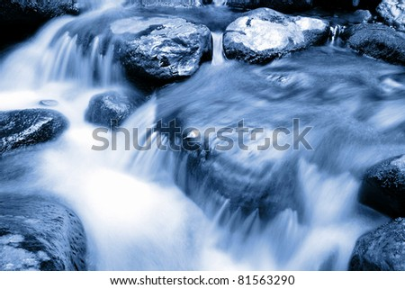 Cool mountain stream - stock photo