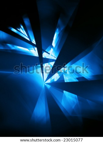 cool night - 3D fractal illustration - stock photo