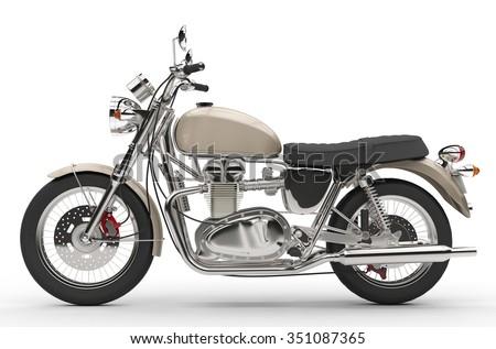 Cool Old Bike - stock photo