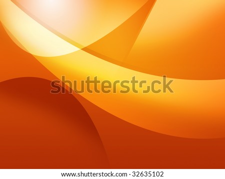 cool orange background - stock photo
