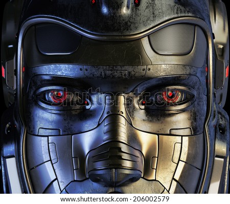 Cool robotic part of face / Cyborg mask - stock photo