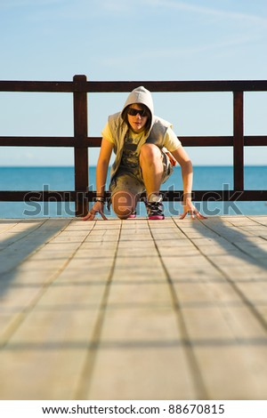 Cool teenager ready for any challenge, a concept - stock photo