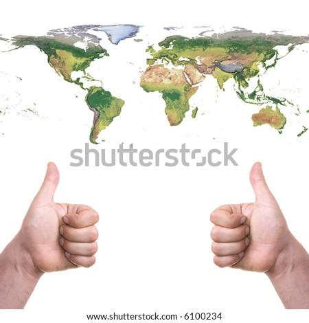cool world - stock photo
