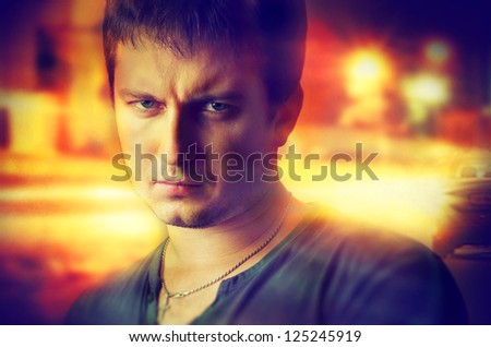 Cool young guy - stock photo