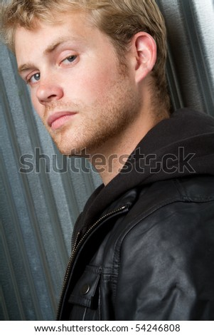 Cool young man - stock photo