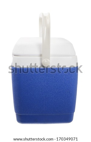Cooler Box on White Background - stock photo