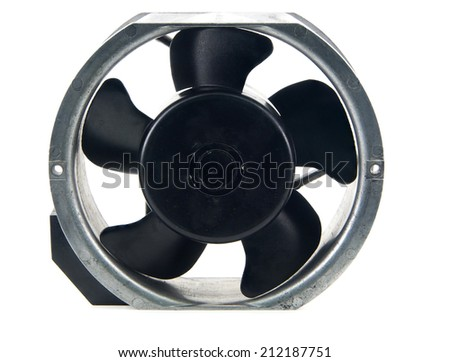cooling fan isolated on white background - stock photo