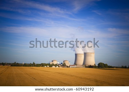 Cooling Nuclear Power station - stock photo