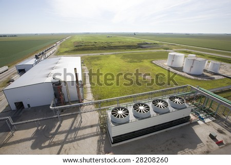 Cooling towers at an energy generating plant