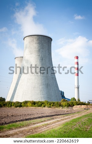 cooling towers in power plant