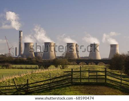 Cooling Towers, Ratcliffe-On-Soar Power Station, Nottingham, England - stock photo