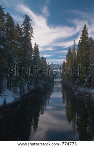 Cooper River, Washington - stock photo