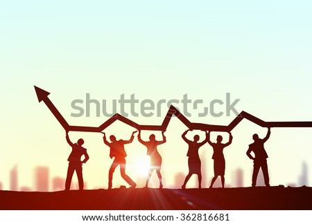 Cooperate for successful work - stock photo
