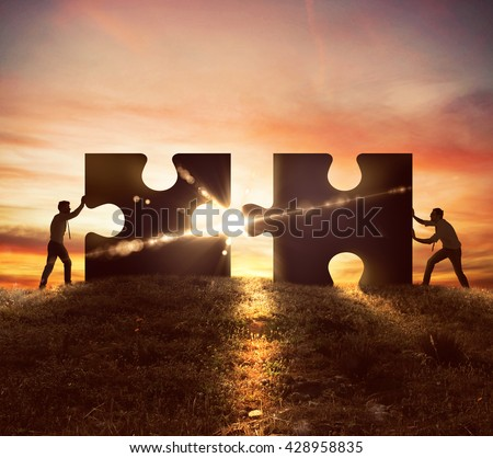 Cooperation at work - stock photo
