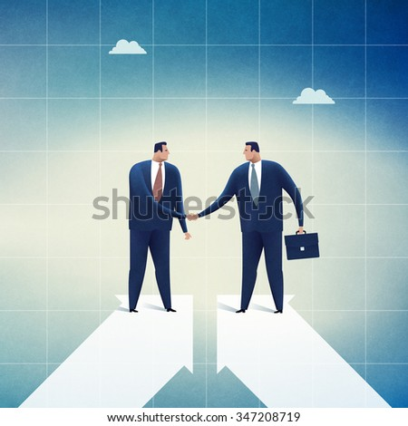 Cooperation. Concept business illustration - stock photo