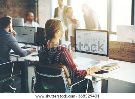 Cooperation Corporate Achievement Teamwork Concept - stock photo