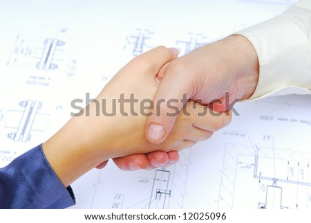 Cooperation. Professional occupation negotiations. - stock photo