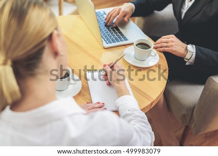Cooperative business work in office