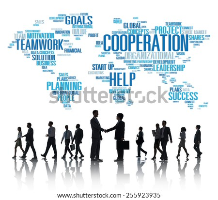 Coorperation Business Coworker Planning Teamwork Concept - stock photo