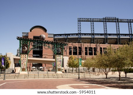 Coors baseball field in denver; home of colorado rockies
