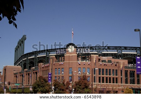 Coors Field in Denver, Colorado - stock photo