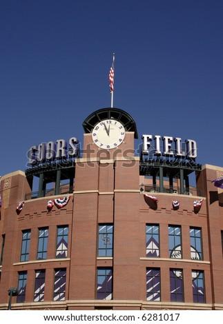 Coors Field in Denver, Colorado.  Home of Colorado Rockies - stock photo