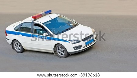 cop car - stock photo
