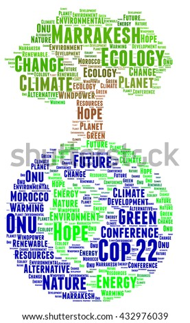 COP 22 in Marrakesh, Morocco  - stock photo