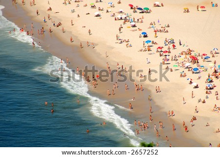 Copacabana beach - stock photo