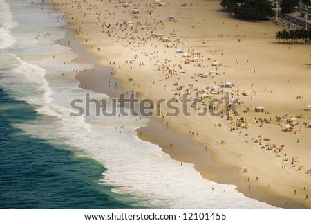 Copacabana Beach (Rio de Janeiro - Brazil) - stock photo