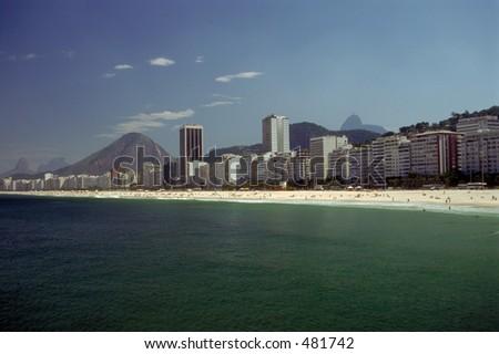 Copacabana Beach - Rio de Janeiro, Brazil - stock photo