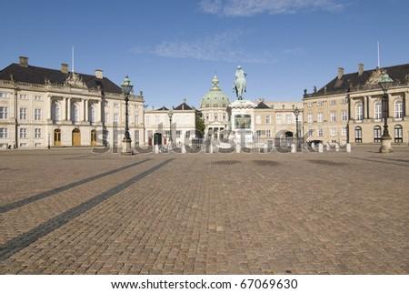 Copenhagen - Amalienborg Palace - stock photo